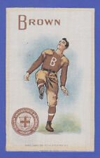 c1910s S22 tobacco silk Brown University Football Player