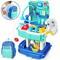 Sanlebi Pet Care Role Play Set Vet Kit with Backpack Puppy Dog Veterinarian Set