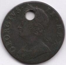1748 George II Halfpenny | Holed | Pennies2Pounds