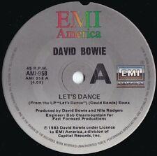 David Bowie ORIG OZ 45 Let's dance NM '83 EMI AMI958 New wave dance rock