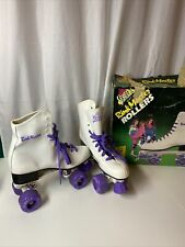 VINTAGE Seneca Rink Master Women's Roller Skates Size 9 White Purple Rink Derby