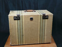 Antique Vintage Sewing Machine Case With Drawers Leather Handle Very Cool