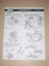 1987 VINTAGE Air Raiders THUNDERCLAW Instructions ONLY Hasbro