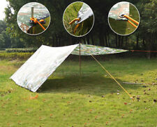 LIGHTWEIGHT WATERPROOF CAMPING TENT TARP CANOPY SHELTER GROUND COVER FLY SHEET