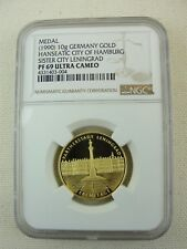 1990 10G GERMANY GOLD HANSEATIC CITY OF HAMBURG SISTER CITY LENINGRAD NGC PF 69