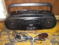 Vintage RCA RP-7710 AM/FM STEREO CASSETTE PLAYER RECORDER collectible Boombox