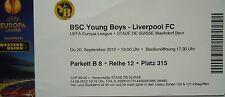 TICKET UEFA EL 2012/13 YB Bern - Liverpool FC