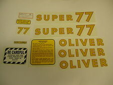 Oliver Super 77 Gas Tractor Decal Set  - New