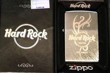 Hard Rock Hotel ORLANDO FL 2013 ZIPPO Lighter Brushed Silver TATTOO New in Box