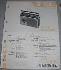 Sony cf-430l FM-MW-SW-LW RADIO CASSETTE-RECORDER service manual