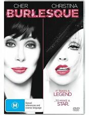 BURLESQUE (DVD, 2011) LIKE NEW- CHER, CHRISTINA AGUILLERA)  REGION 4 - FREE POST