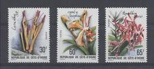 FLEUR Cote d'Ivoire série de 3 val de 1979 ** PORT OFFERT FLOWER BLUME FIORE