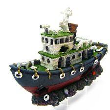 Aquarium Decorations Fishing Boat 28.5cm Ancient Ship Shipwreck Artificail
