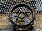Vintage industrial steampunk cast iron gear sprocket lamp base project