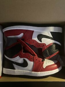 NEW Air Jordan 1 Satin Snake High Black Red White FREE FAST SHIPPING