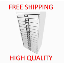 More details for 15 multi drawer steel filing cabinet grey - brand new - free shipping