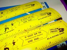 3 Vintage Southern New England Telephone Company Yellow Pages Ad Tin Metal Ruler