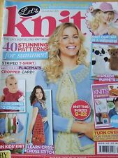 LET'S KNIT MAGAZINE ISSUE 68 JUL 2013 HAT IN A WEEKEND SPEEDY PUPPETS DRESS CROC