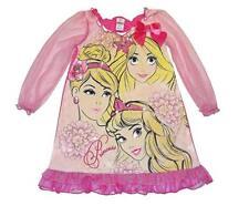 Disney Princesses Rapunzel Cinderella Aurora Pink Nightgown Size 4