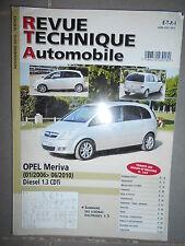 Opel MERIVA 1.3 CDTi 01/2006 à 06/2010 : revue technique RTA B743