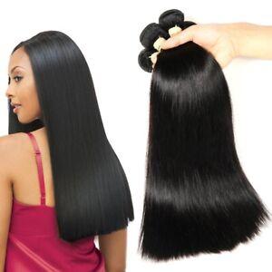 4 Bundles Peruvian Human Hair Bundles Hair Extensions Human Hair Straight Hair