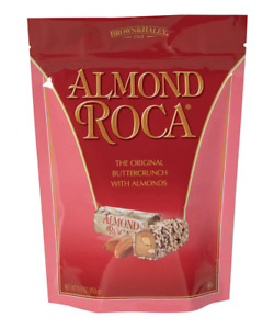 Brown & Haley's Almond Roca Candy Chocolate Original Butter Crunch Toffee Made i