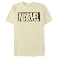 Marvel Cheetah Animal Logo Print Mens Graphic T Shirt
