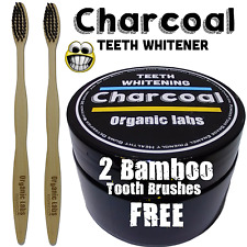 100% ORGANIC COCONUT ACTIVATED CHARCOAL -NATURAL TEETH WHITENING POWDER.