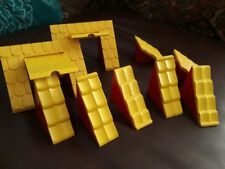 DUPLO FARM BARN ROOF PIECES RED YELLOW LEGO 11 PIECES