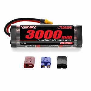 Venom 7.2V 3000mAh 6 Cell RC NiMH Battery with Deans EC3 Traxxas Tamiya UNI Plug