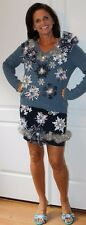 Deb Rottum Ugly Tacky Christmas Sweater Dress Outfit  Size M - Hanukkah