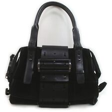GIVENCHY Hand Bag  Black Suede Leather 1605027