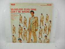 ELVIS PRESLEY LP 33 GIRI ELVIS FANS CAN'T BE WRONG LSP2075