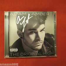 "SIGNED ADAM LAMBERT IN PERSON""THE ORIGINAL HIGH ""DELUXE EDITION CD* QUEEN FRONT"