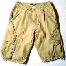 EUC - RRP $189 - Mens Premium ABERCROMBIE & FITCH Beige Cargo Shorts