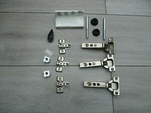 3 IKEA Komplement Standard Hinge Fits 50x195 Pax Wardrobe Door & Other Parts
