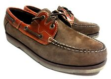Sperry Top Sider Mens Boat Shoes 2 Eye Brown Suede Leather 9 M