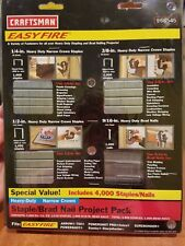 Craftsman Heavy Duty Narrow Crown Staple/Brad Nail Project Pack 68545 4000 pack!