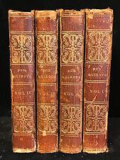 LIFE AND EXPLOITS OF DON QUIXOTE Miguel de Cervantes, Charles Jarvis 4 Vols 1827
