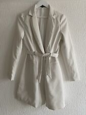CREAM BLAZER DRESS 10 MISSGUIDED SUMMER TOWIE CLUB CHELSEA CELEB HOLIDAY GLAM