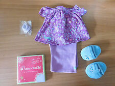 NIB ~My American Girl Purple Peacock Pajamas~ PJ's Slippers Complete Charm Grace