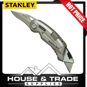 """Stanley Utility Knife 4 5/8"""" QuickSlide® Sports Knife 2in1 10-813"""