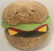 Squishable Hamburger plush smiling face large stuffed cheese burger pillow toy
