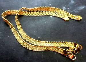 "Indian Gold Plated 10"" Payal Foot  Designer Chain Anklet Set Women kid Jewelry m"