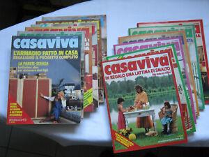 RIVISTA CASAVIVA 1978 ANNATA COMPLETA MOBILE DESIGN SALONE ARREDAMENTO FAMIGLIA