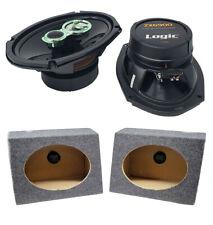 "2x 6 x 9"" Pro Car Audio Speakers 500W Coaxial 6x9 Speaker Box Enclosures"