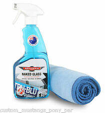 Bowden's Own Naked Glass Cloth Cleaner Pack Microfibre Mothers Meguiars Autoglym