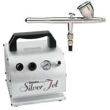 Iwata-Medea Revolution CR Airbrushing System with Silver Jet Air Compressor