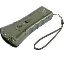 Dog Repeller Ultrasonic Handheld Dual-Channel Anti Dog Barking Device 3 In 1 Dog