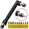 """11Pcs Socket Wrench Bit Set 1/4"""" Drive Garage Car Equipment Repair Tool Kit UK"""